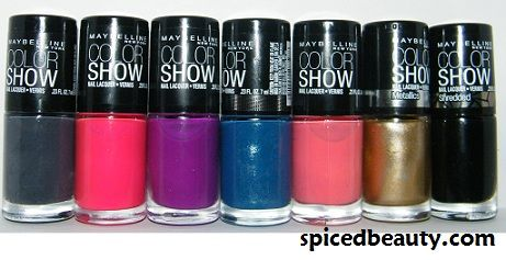 Maybelline The Color Show Nail Collection Swatches