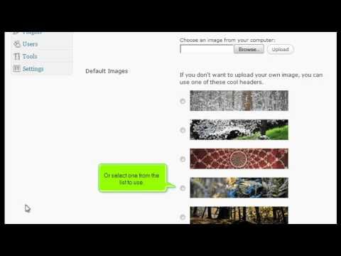 In this video tutorial we present you how to change your site header in wordpress using the wordpress dashboard. Wordpress hosting made easy by http://giganetwebhostting.com