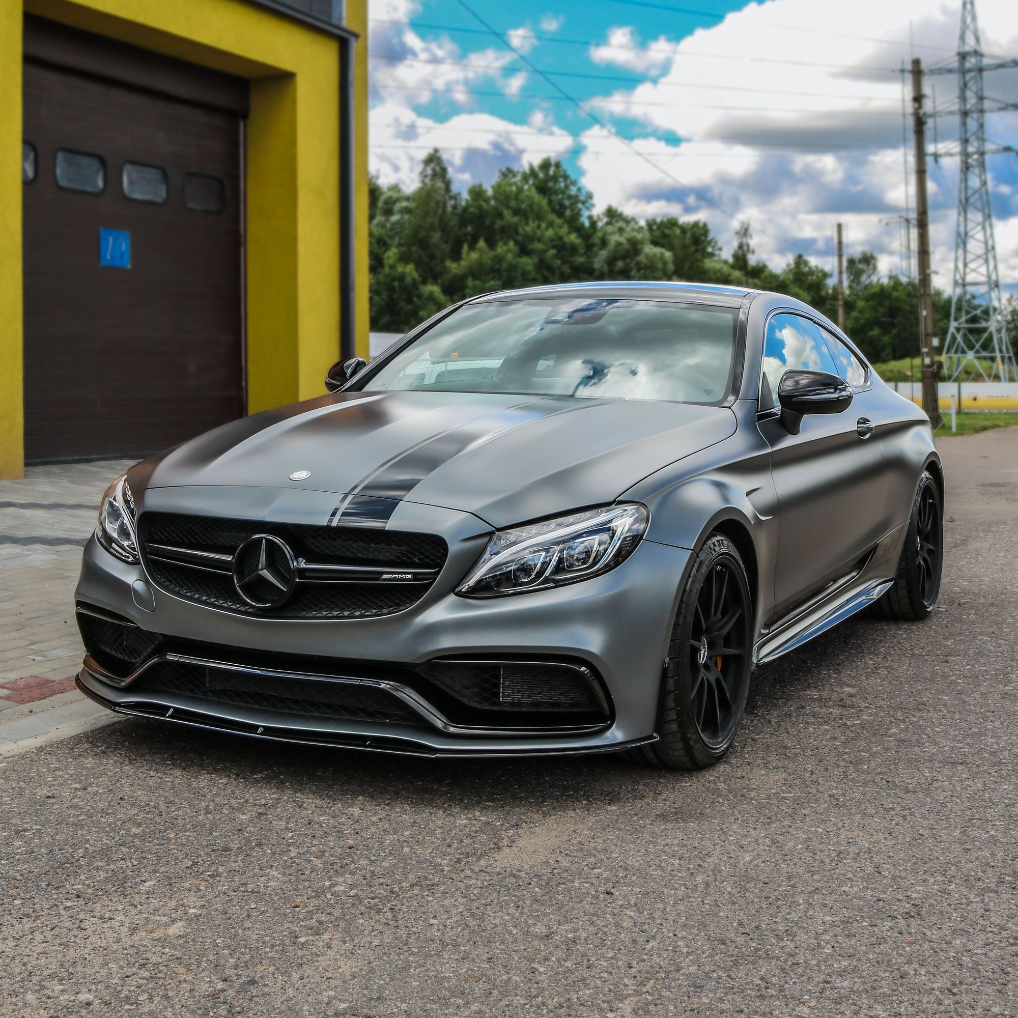 MB AMG C Class Edition 1 Design Racing Stripes (With