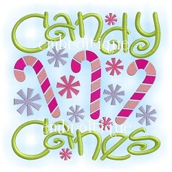 Candy Canes Block - 6 Sizes! | Christmas | Machine Embroidery Designs | SWAKembroidery.com Embroitique