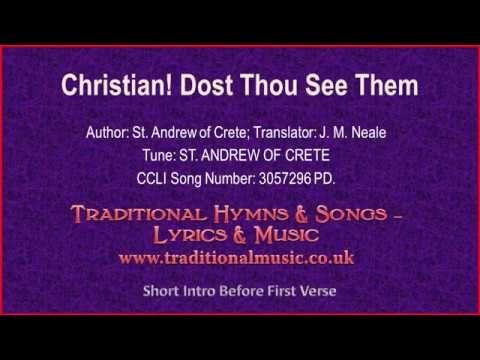 Christmas Hymns Youtube.Christian Dost Thou See Them Old Hymn Lyrics Music