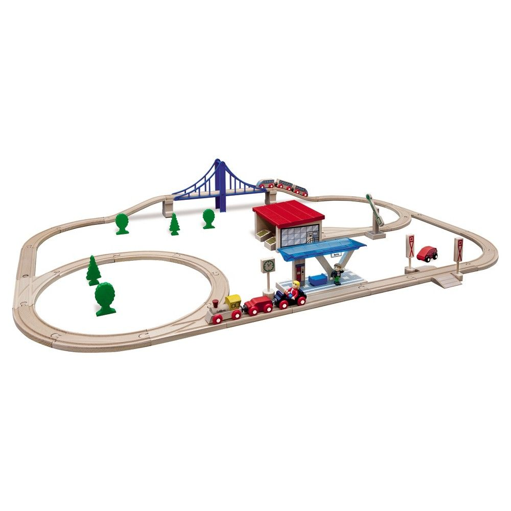 Eichhorn Küchenzubehör Eichhorn Large Wooden Train Set 58 Pieces Products Pinterest