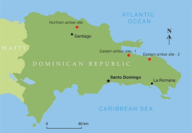 Map of the Dominican amber mines Amber Copal Pinterest Blue