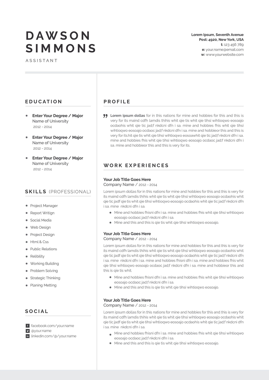 Resume Template 3 Page Cv Template Resume Template Cv