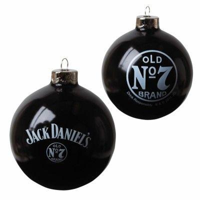 Jack Daniel's Christmas Round Glass Ornament - Jack Daniel's Christmas Round Glass Ornament Jack Daniel's Jack