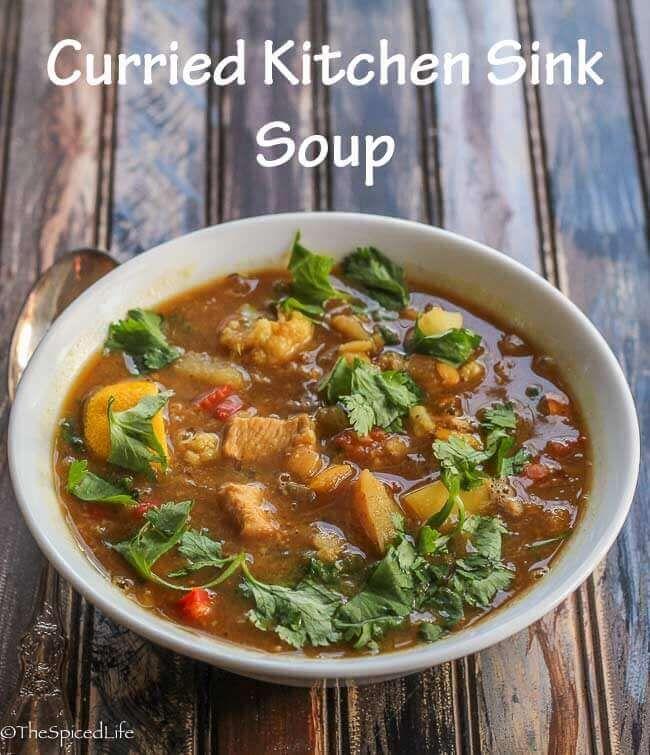 Curried kitchen sink soup recipe curry kitchen curry and curried kitchen sink soup workwithnaturefo