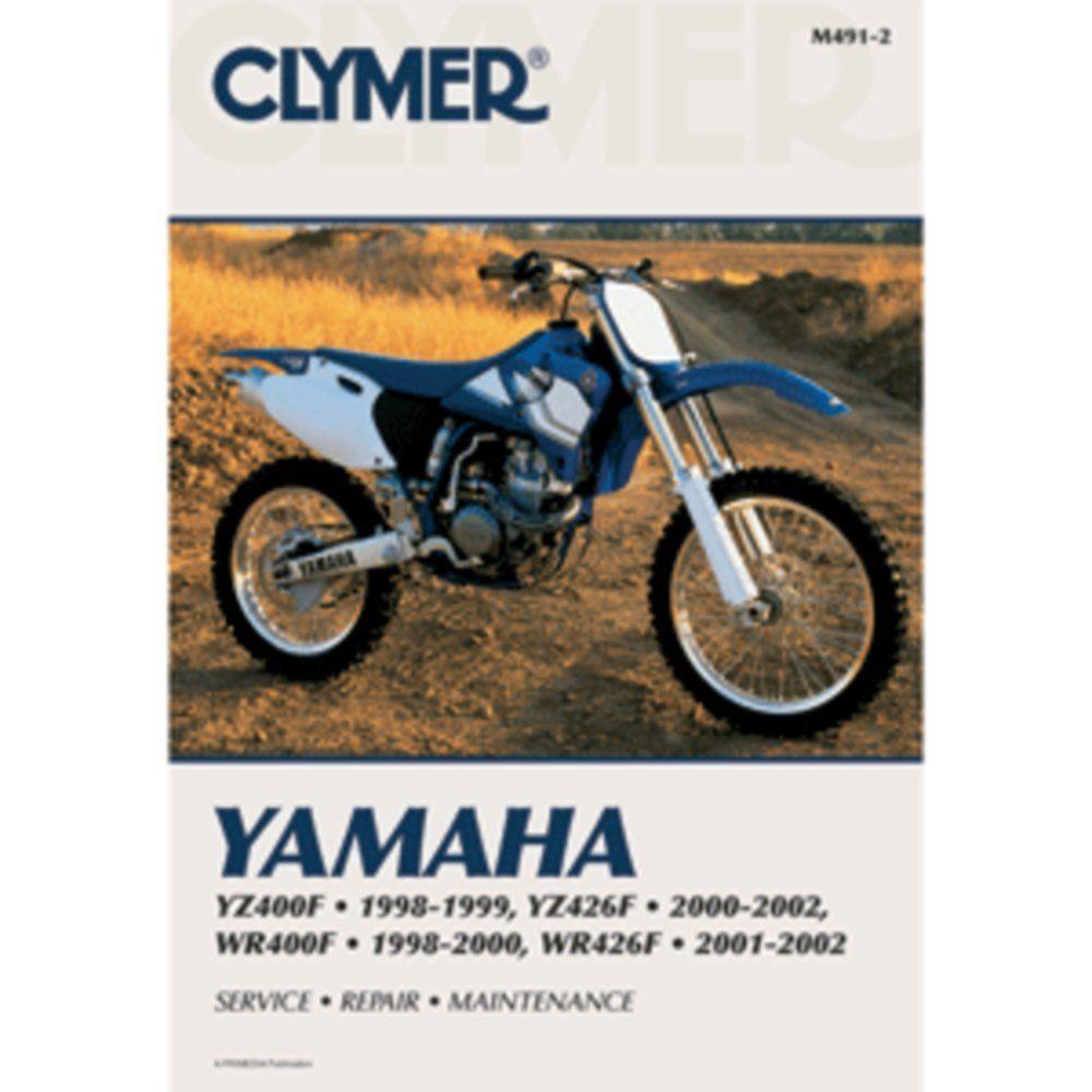Clymer Yamaha Yz400f Yz426f Wr400f Wr426f 1998 2002 Motorcycle Repair Clymer Yamaha