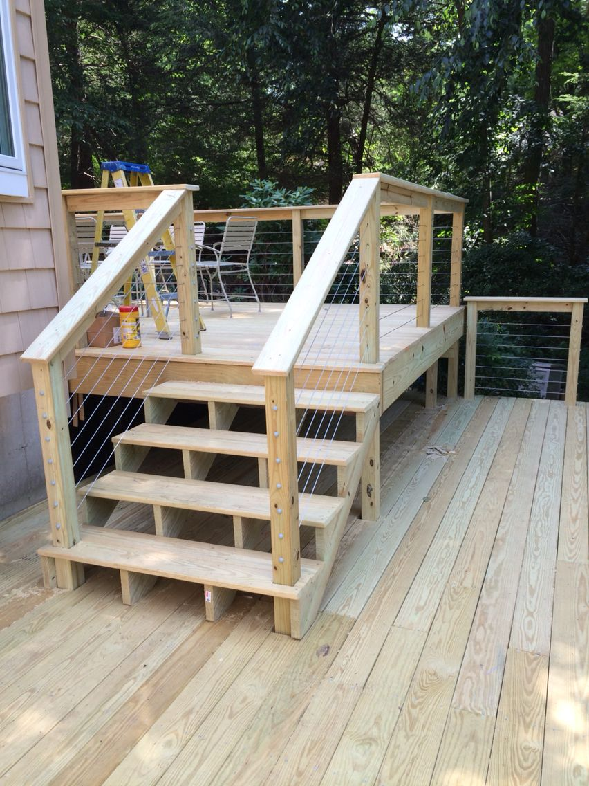 Best 2Nd Level Pressure Treated Deck With Stainless Cable 400 x 300