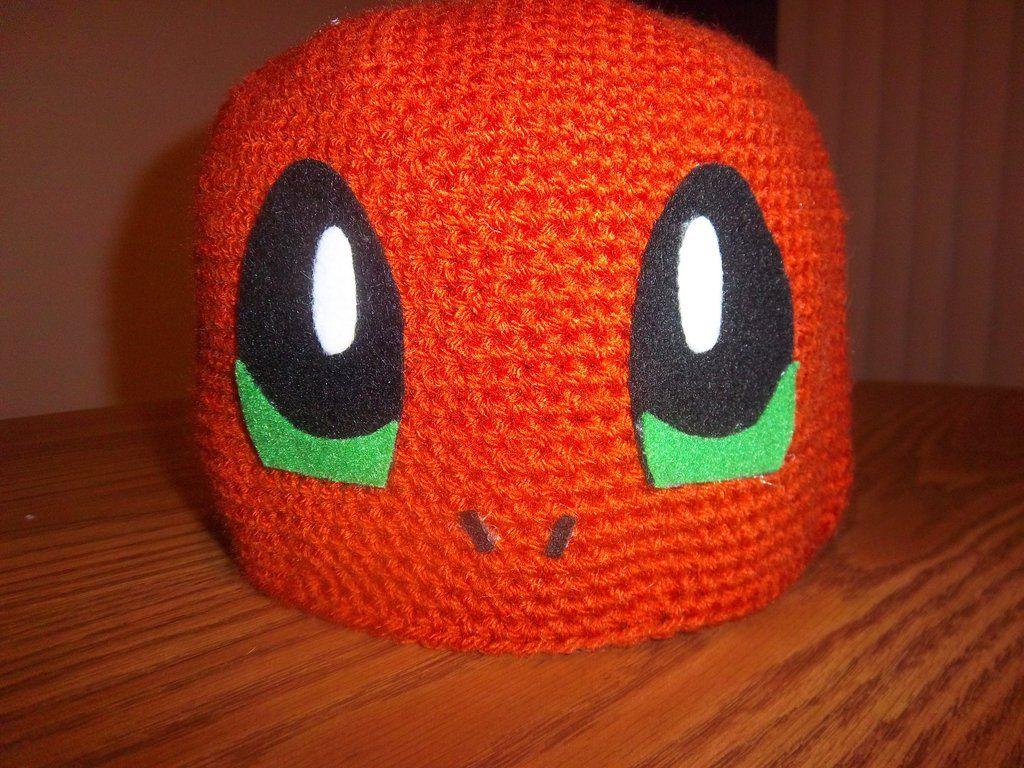 Charmander Crochet Beanie Cap (front view) by  TheEmeraldStitch.deviantart.com on  DeviantArt 10061c41b44