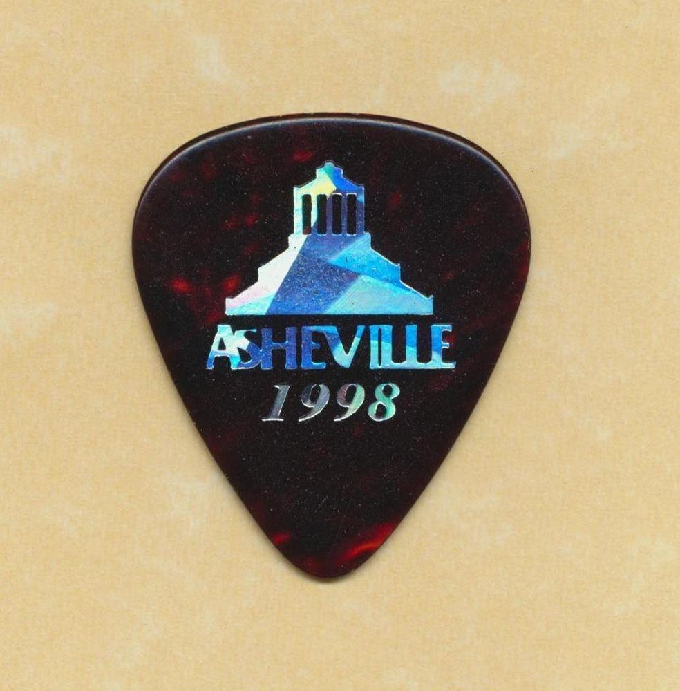 Asheville North Carolina 1998 promo guitar pick bluegrass music festival #GuitarPick