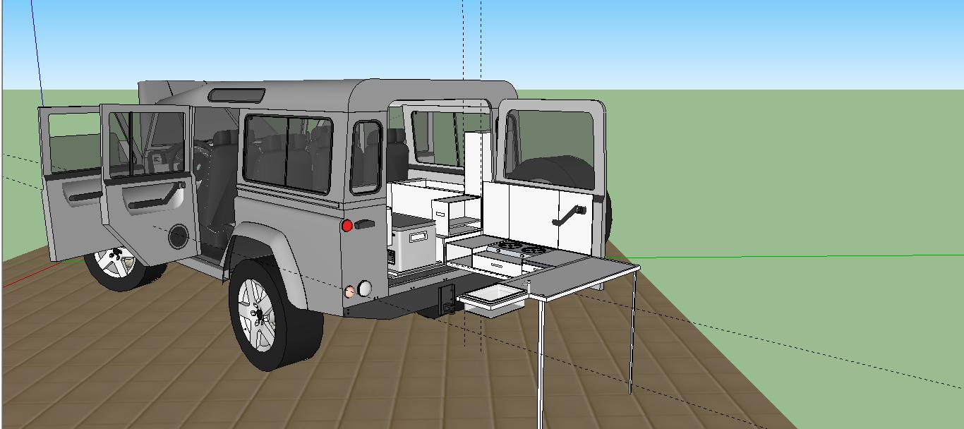 Defender 110 Kitchen Amp Storage Australian Land Rover