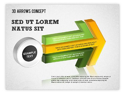 Complex Process Arrows Is A Right Choice For Presentations On