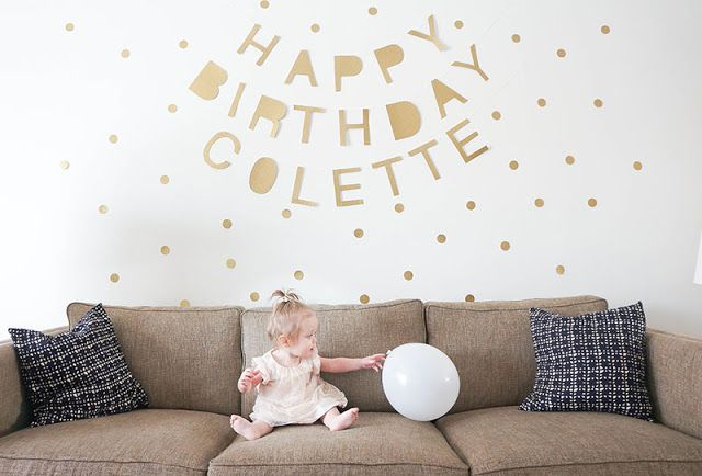 Colette's Gold and White First Birthday Party by Oakland Avenue
