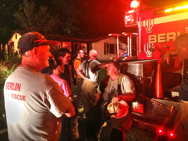 RAPID RESPONSE SAVES CR1651 HOME FROM TOTAL FIRE LOSS: A 911 emergency call was received around 9:00 pm Tuesday evening. The caller reported a house on fire along the 800 block of County Road 1651.  Multiple units from Holly Pond and Berlin Fire Departments were called to the location by County Fire dispatch.