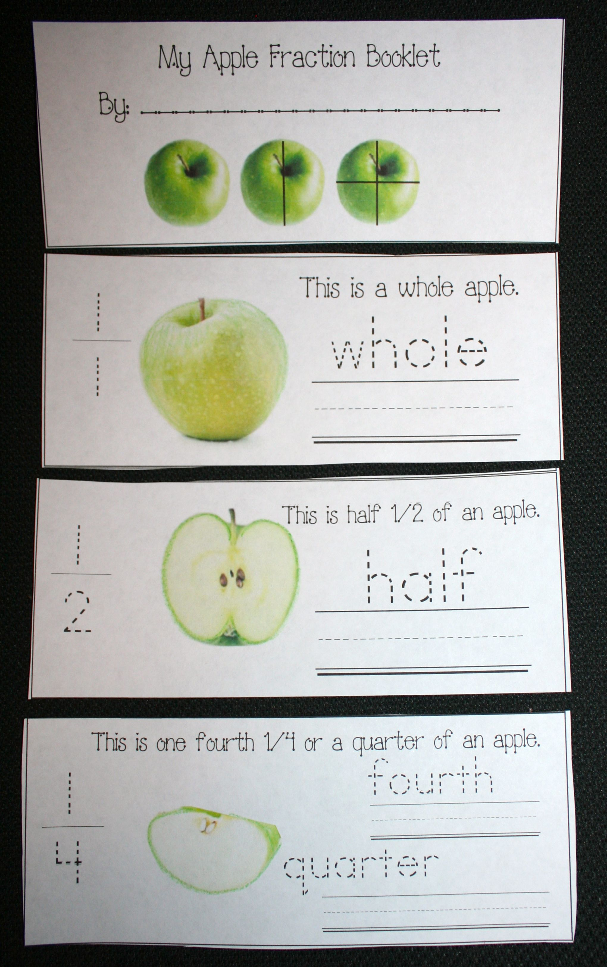 Studying Fractions Using Apples