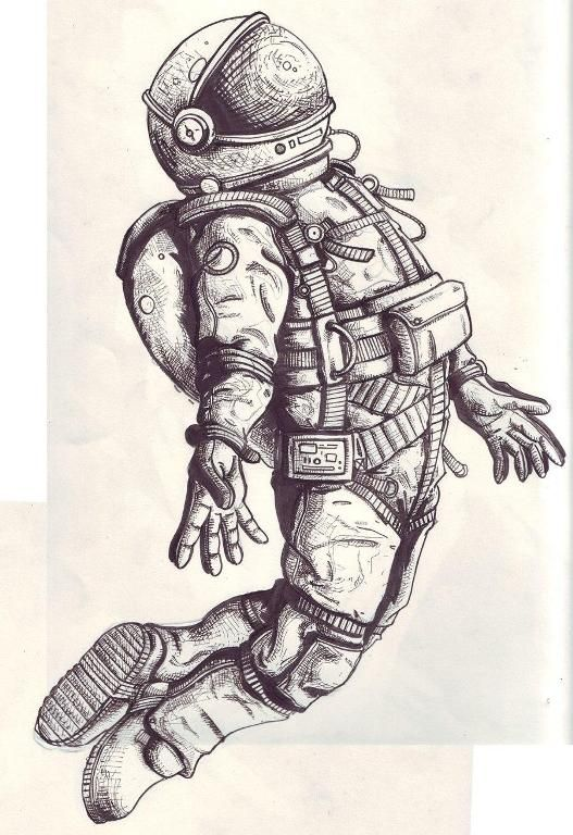 How to draw a cosmonaut step by step | art | Pinterest