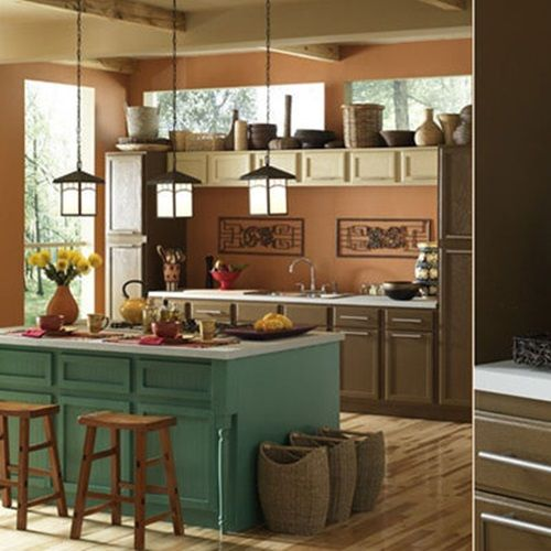 Different Types of Wood for Kitchen Cabinets kitchen island