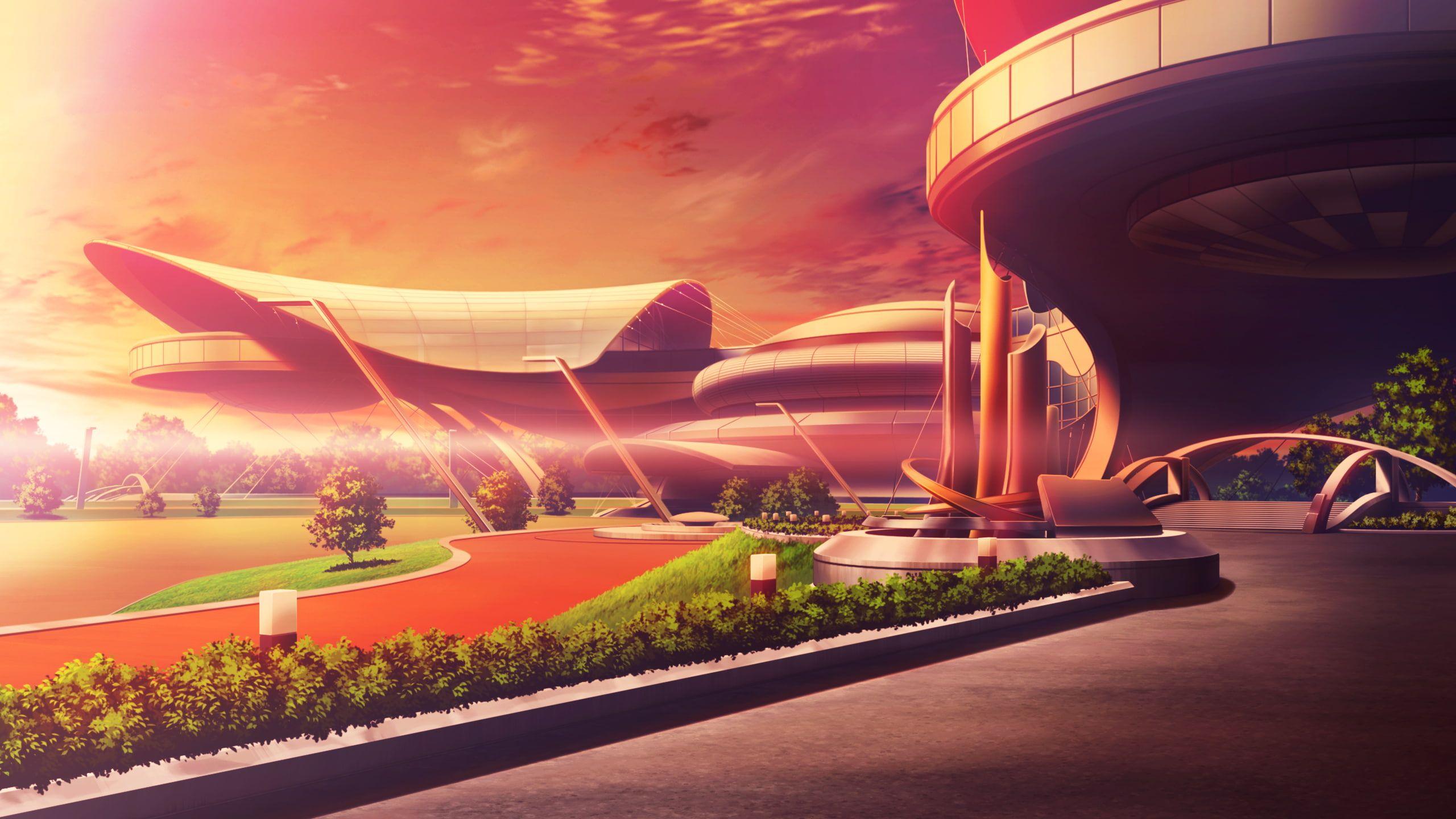 Building Game Hirogete Kono Oozora Scenic Sunset Tsubasa