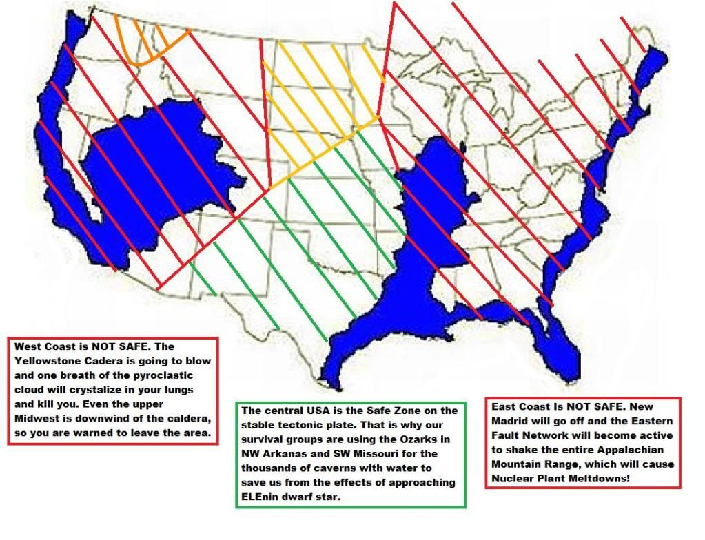 United States Safe Zone Map 2014fault line map, this could