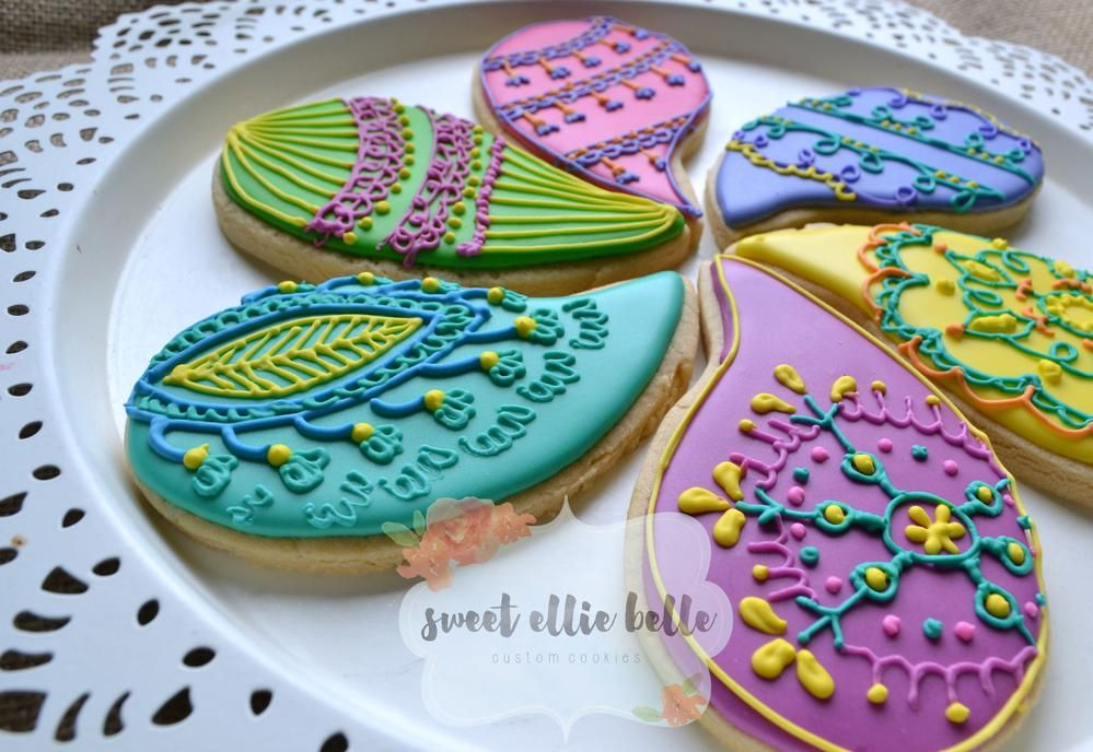Paisley Mehndi Cake : Paisley mehndi cookies cookie connection edible pretties
