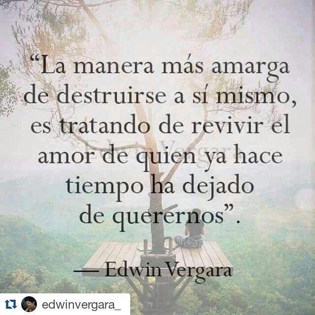 Recomendamos a  @edwinvergara_ ❤ with @repostapp ・・・ La manera más amarga... #edwinvergara #cartassindestino #frases #nochedeletras