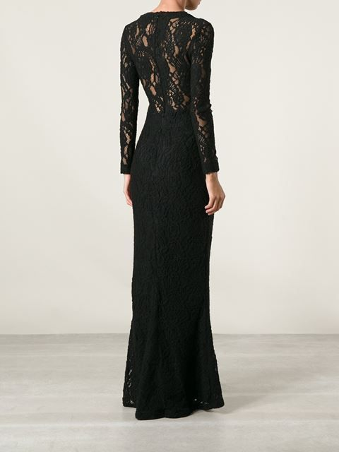 Ermanno Scervino Long Lace Dress - - Farfetch.com