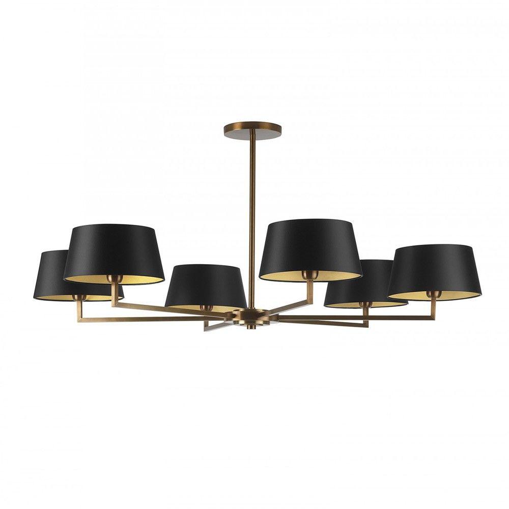 Cora Ceiling Light Bronze 6 Arm : Heathfield co holt antique brass chandelier arm
