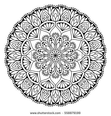 Flower Mandalas Vintage Decorative Elements Oriental Pattern Vector Illustration Islam Arabic