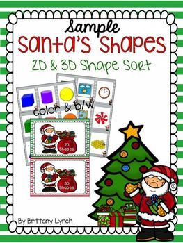 This Christmas Themed Game Has Students Sorting D  D Shapes And
