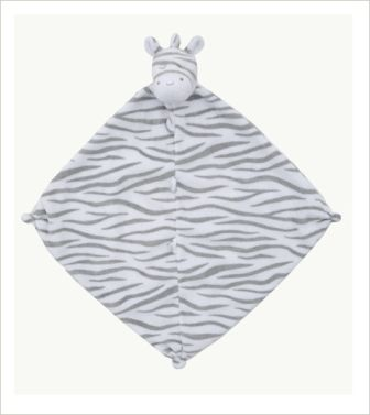 Grey Zebra Blankie by Angel Dear