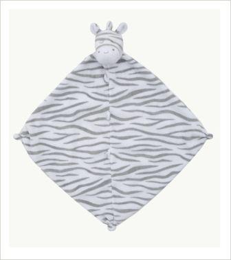 Grey Zebra Blankie by Angel Dear