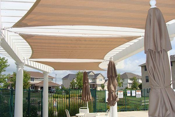 pergola canopy ideas patio deck shade DIY pergova shade textile cover - Pergola Canopy Ideas Patio Deck Shade DIY Pergova Shade Textile