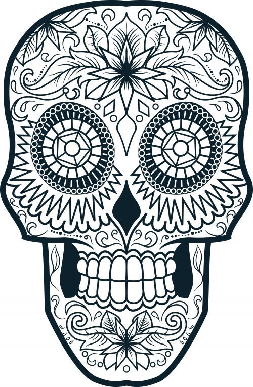 Pin by Laura Smith on Color Me Pinterest Sugar skulls Coloring