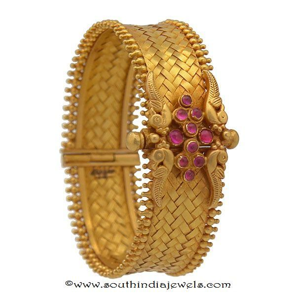 4 Antique Gold Kada Bangles from Prince Jewellery Bangle Gold and