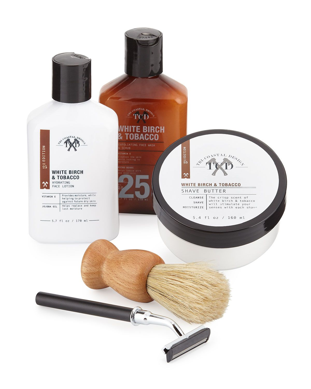 Tri Coastal Designs Clean Shave Gift Set Cosmetics Bath Body