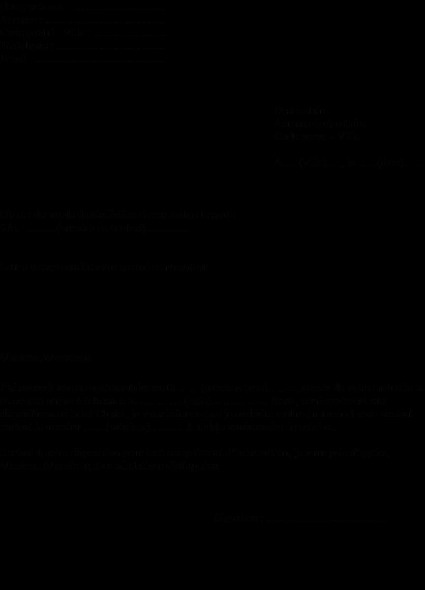 model de lettre de resiliation