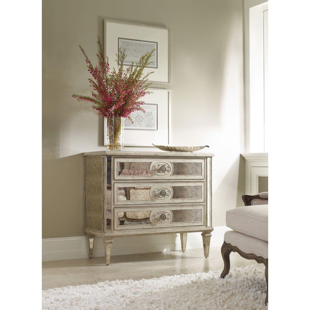 Good Hooker Furniture Sutherland 3 Drawer Antique Mirrored Chest