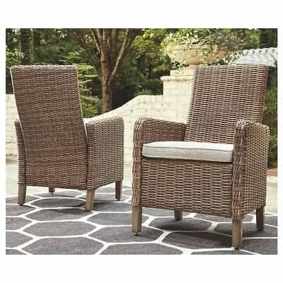 Beachcroft Outdoor Dining Chairs Set of 2 - Beige Ivory ... on Beachcroft Beige Outdoor Living Room Set  id=62568
