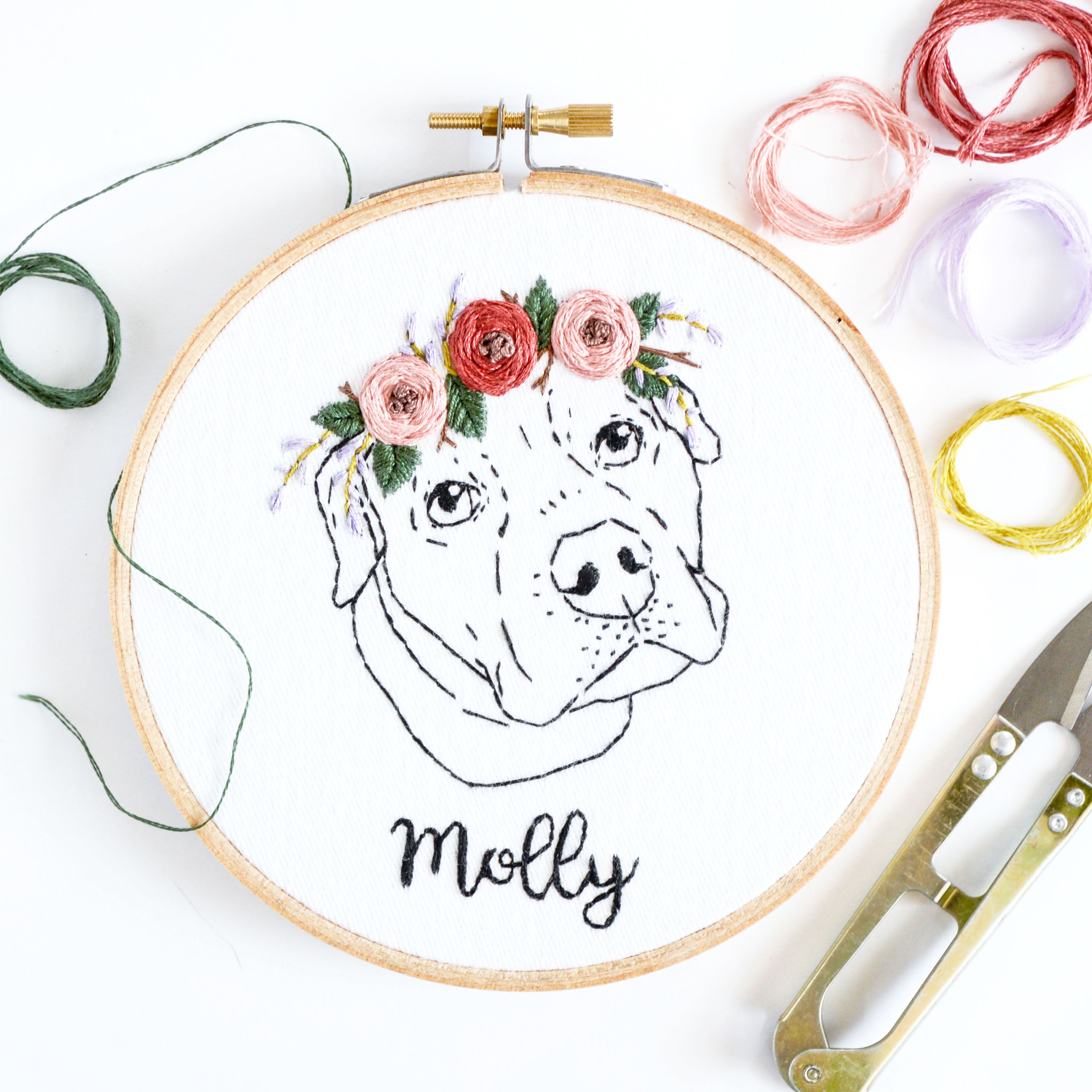 I embroidered a pup recently with some of the most gentle