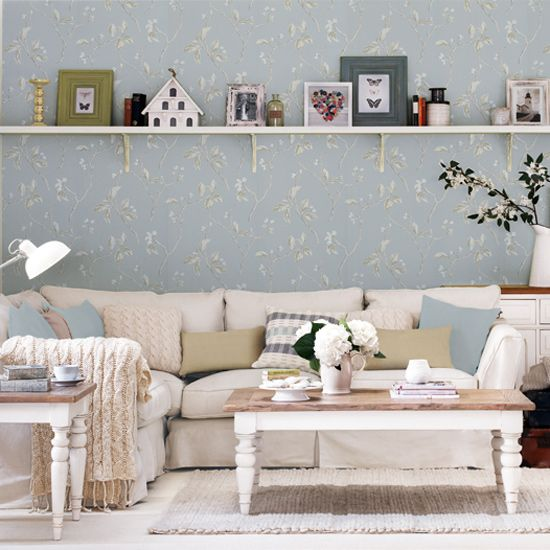 Wallpaper though do in creams couch w\/ beige and white furniture - wohnzimmer beige couch
