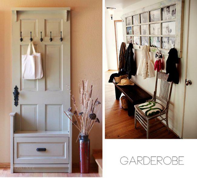 Alte Tür Als Garderobe alte türen dekoidee we home garderobe