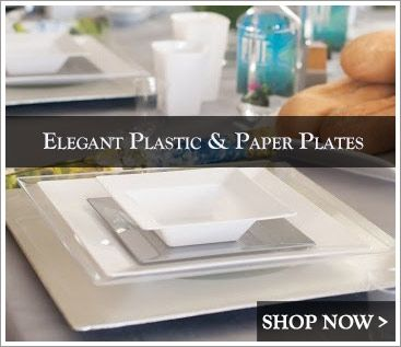 Elegant Plastic Dinnerware - Posh Party Supplies  sc 1 st  Pinterest : elegant plastic wedding plates - pezcame.com