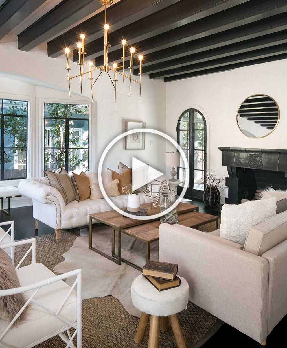 Gorgeous Mediterranean Style Living Room Decor With White Tufted Sofa Restoration Hardware Tufted Sofa Rh Restorationhardware In 2020