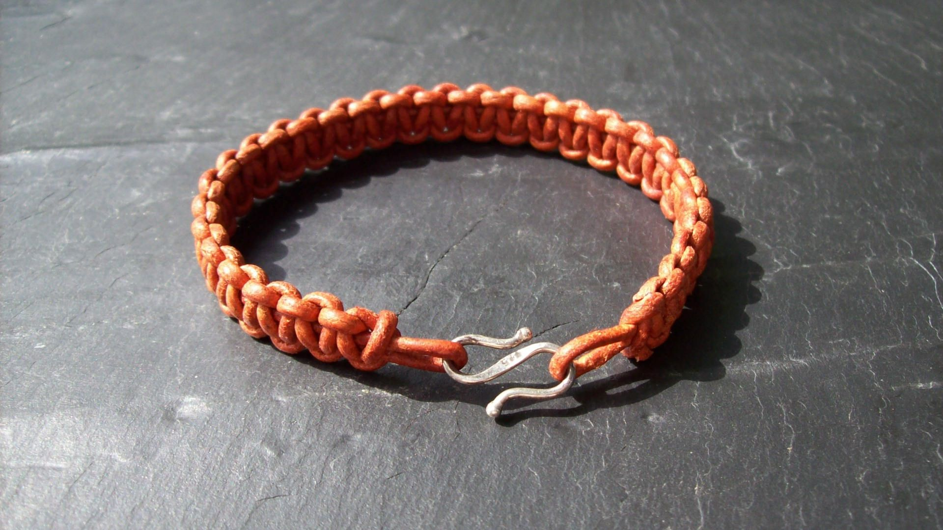 Bracelet homme orange