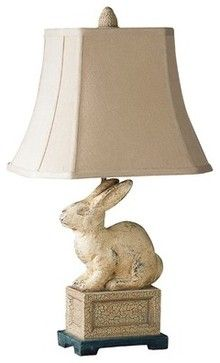 I cannot explain why, but I have always wanted a bunny lamp. Leverette French Country Rabbit Table Lamp modern table lamps