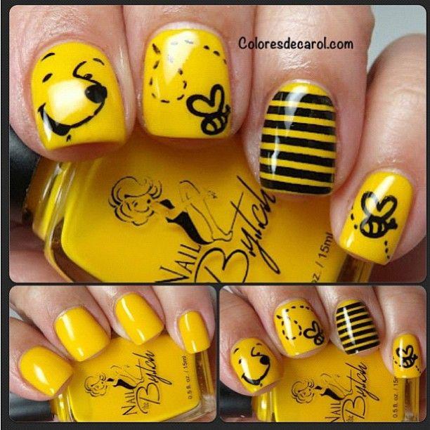 Pooh By Coloresdecarol Nail Nails Nailart Nails Pinterest Nagel