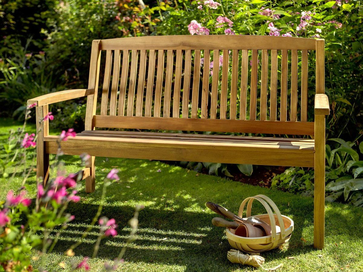 Hartman Chartwell 3 Seat Bench With Free Brass Plaque Link: Http://www