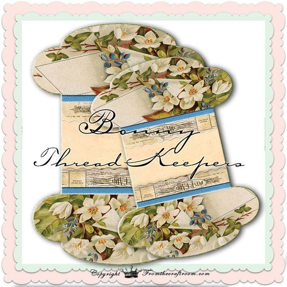 INSTANT DOWNLOAD Bonny Lace or thread Keepers by fromthecraftroom, £2.24