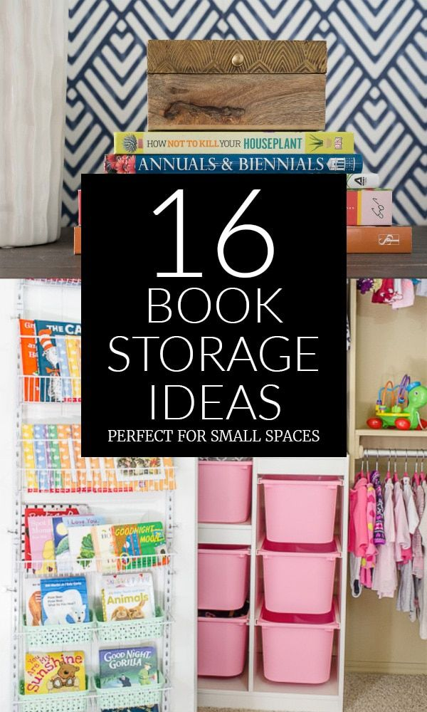 16 Creative Book Storage Ideas - Perfect when you don't ...