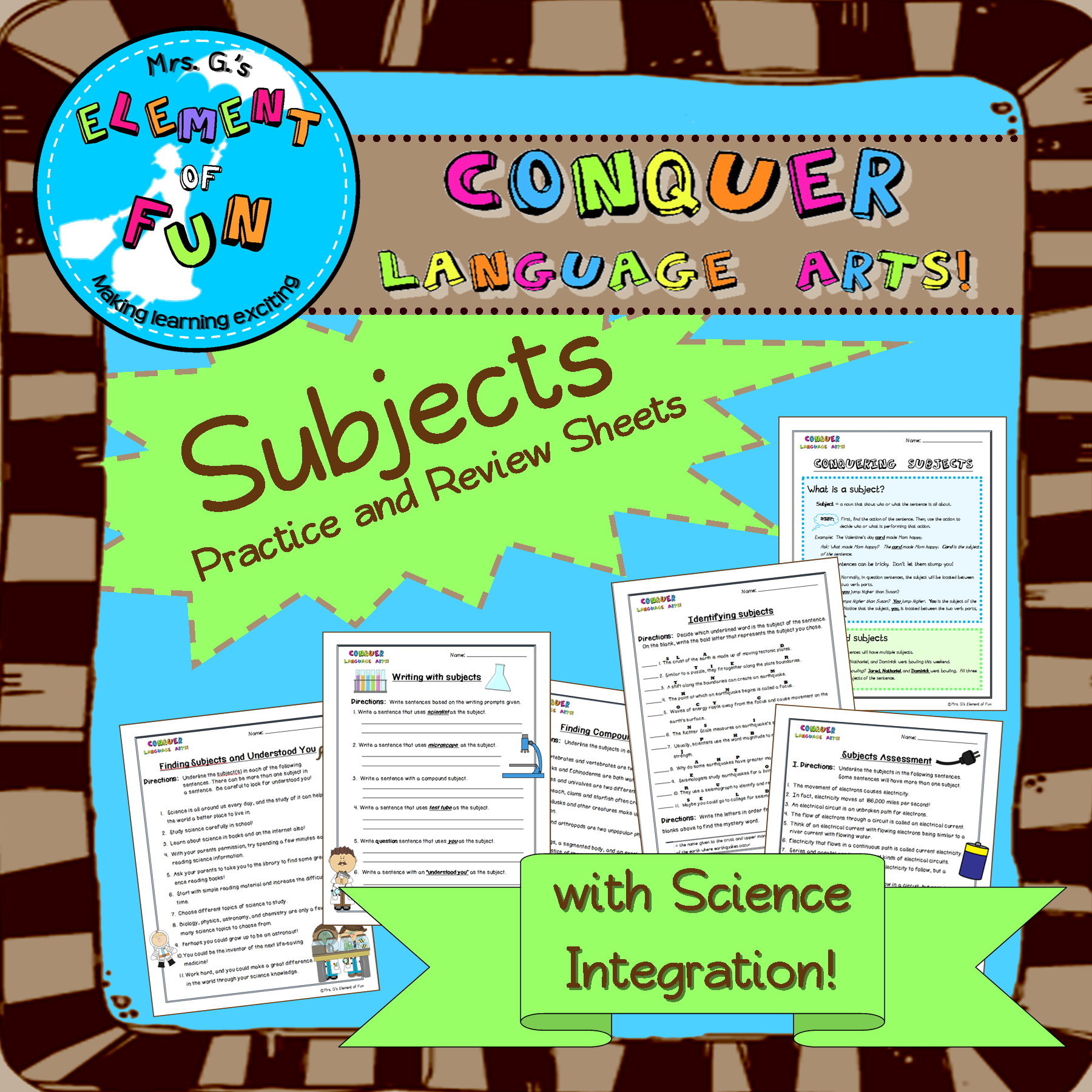Finding Subjects Review Worksheets And Study Guides